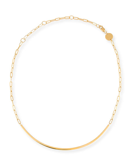 Cecelia Golden Chain Collar Necklace