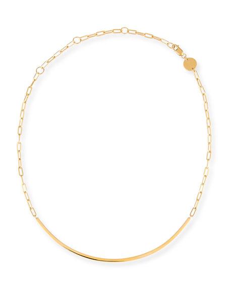 Cecelia Golden Chain Collar Necklace