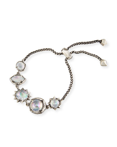 Jodie Mixed-Crystal Station Bracelet