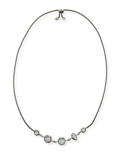 Janet Mixed-Crystal Station Necklace