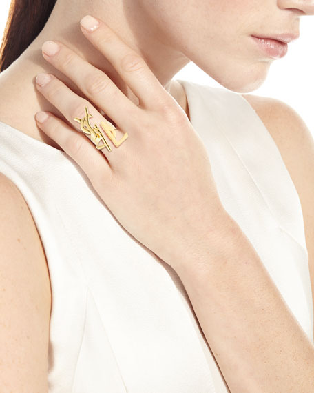 Deconstructed Monogram Golden Ring
