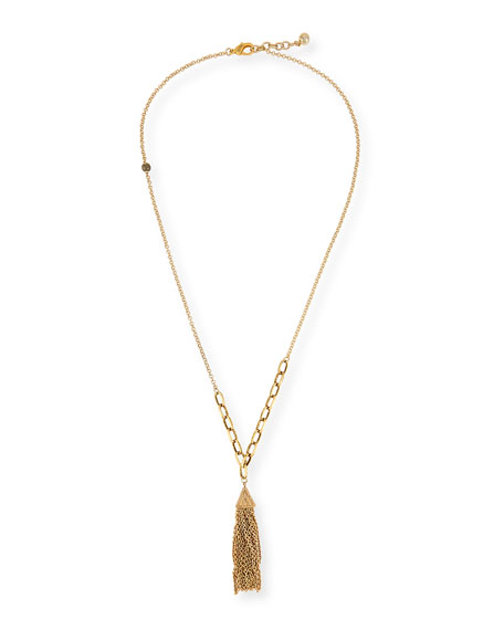 Granada Tassel Chain Necklace, 35""
