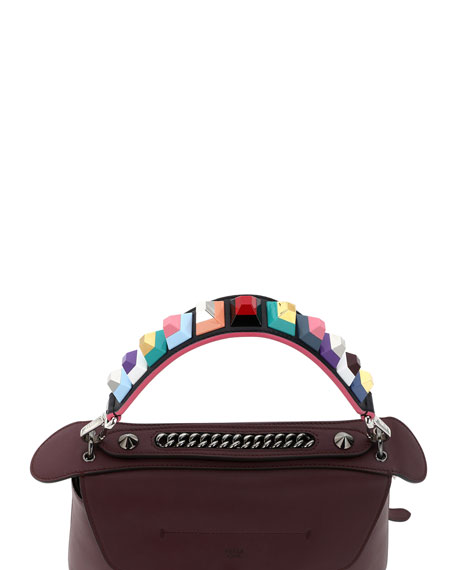 Strap You Mini Studded Shoulder Strap for Handbag, Black/Multi
