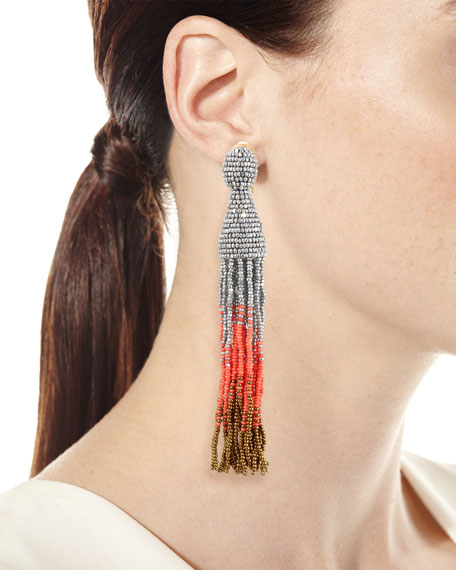 Ombre Crystal Tassel Earrings