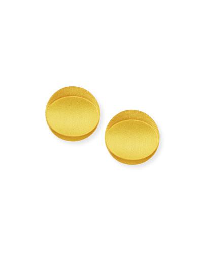 Leaf 24K Gold-Plated Stud Earrings