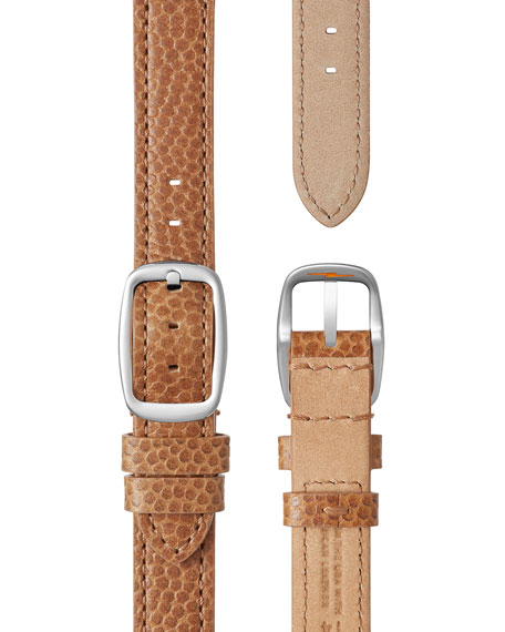 The Canfield 38mm Alligator Strap Watch, Dark Camel