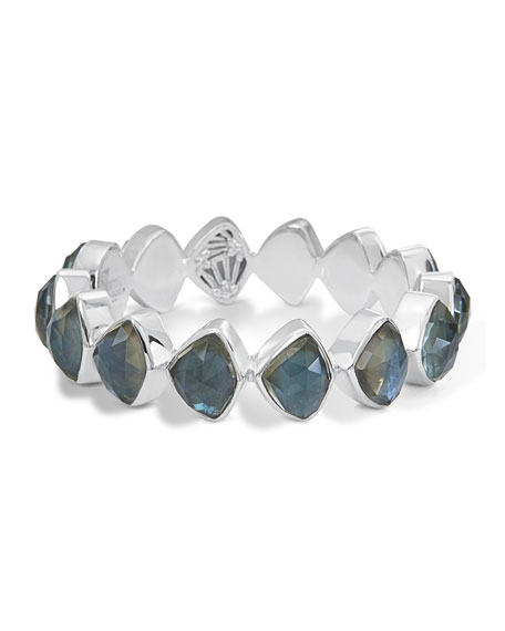 Stephen Dweck Faceted Aqua Quartz & Mother-of-Pearl Doublet