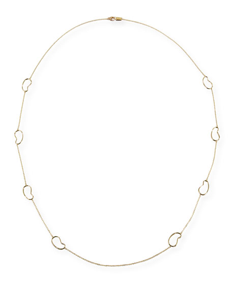 18K Classico Kidney Station Necklace, 41""