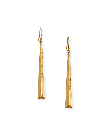 Ippolita 18K Classico Skinny Tapered Pyramid Earrings