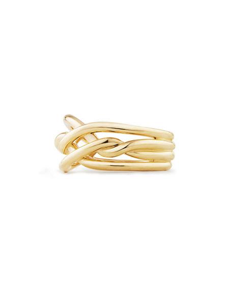 David Yurman 11.5mm Continuance 18K Gold Ring, Size 7
