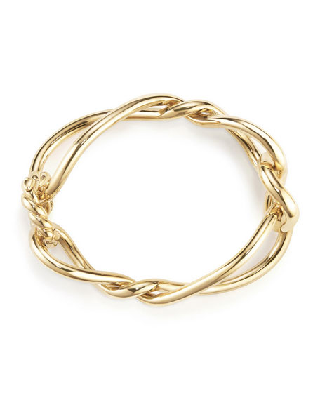 Image 3 of 3: Continuance Bold Twisted 18K Yellow Gold Bracelet