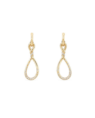 31.5mm Continuance Drop Earrings with Diamonds