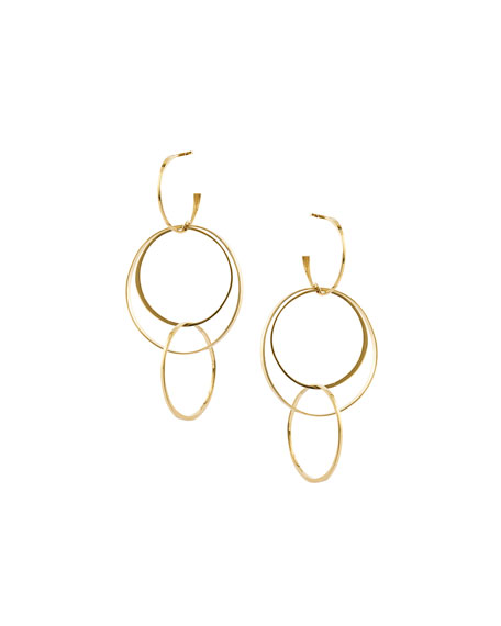 Lana Bond Medium 14K Interlocking Flat Hoop Earrings