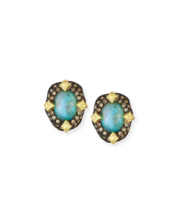 Armenta Old World Peruvian Opal Earrings with Diamonds j06uIP