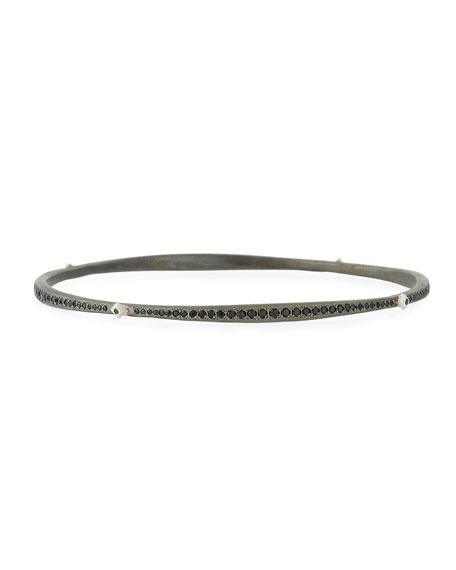 Armenta New World Blackened Eternity Bangle with Black