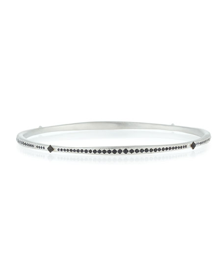 Crivelli Eternity Bangle with Black Sapphires