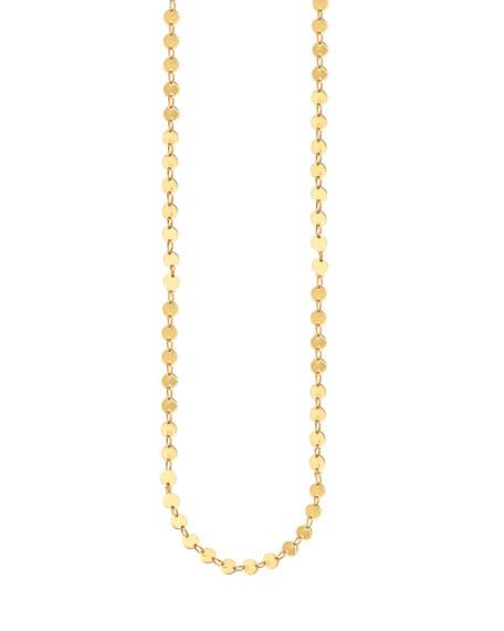 """14k Elite Mirror Disc Chain Necklace, 36"""""""
