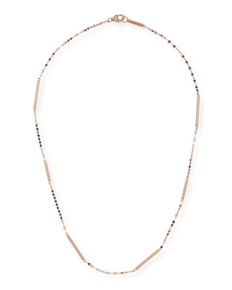 LANA 14K Gold Short Bar Station Necklace
