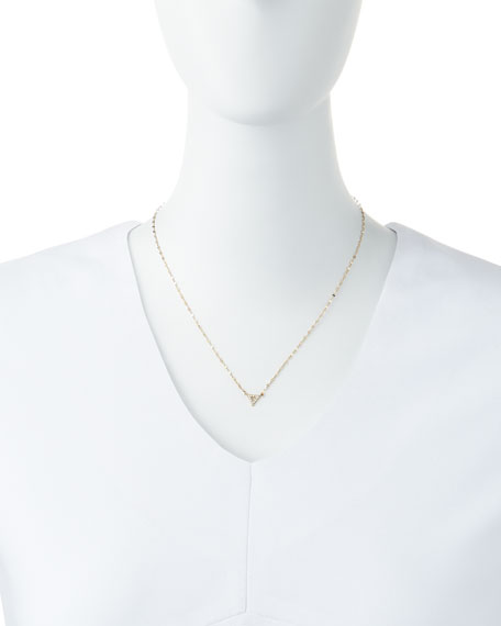 LANA Diamond Spike Pendant Necklace