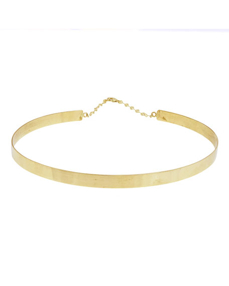 Gloss 14K Gold Choker Necklace