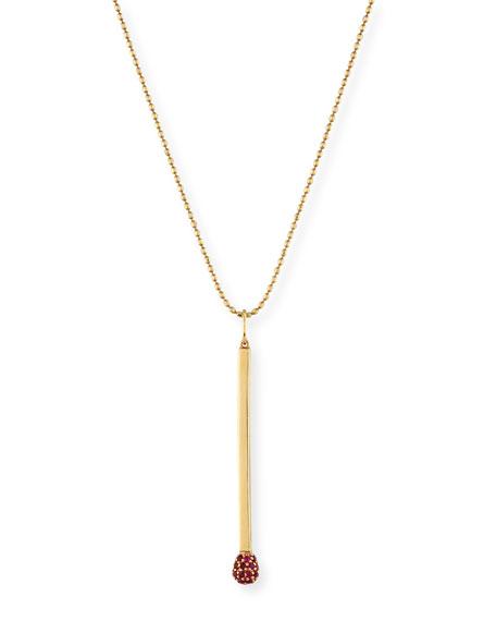 Sydney Evan Ruby Matchstick Charm Necklace