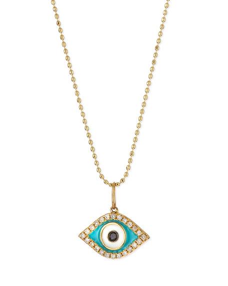 Sydney Evan 14k Diamond Evil Eye Pendant Necklace
