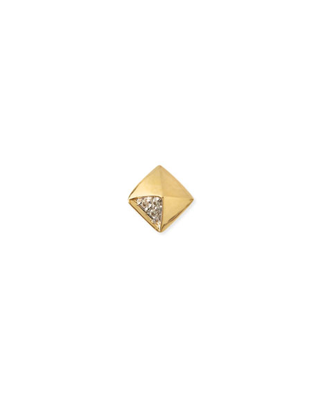 Sydney Evan Gold & Diamond Pyramid Single Stud