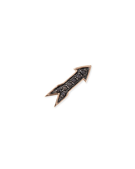 Sydney Evan 14k Rose Gold Black Diamond Arrow