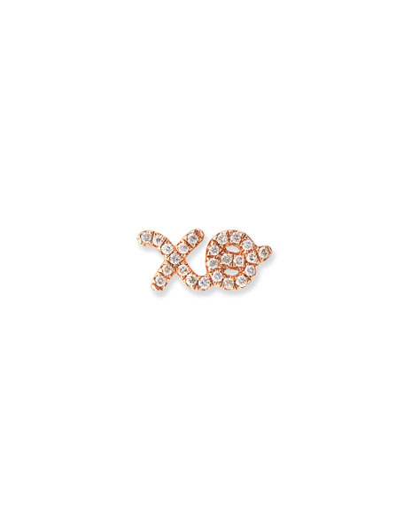 Sydney Evan 14K Gold XO Stud Earring with Diamonds