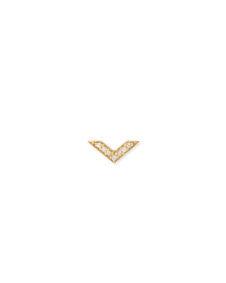 Chevron Stud Earring with Diamonds