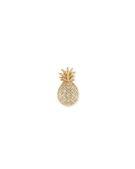 Pavé Diamond Pineapple Single Stud Earring