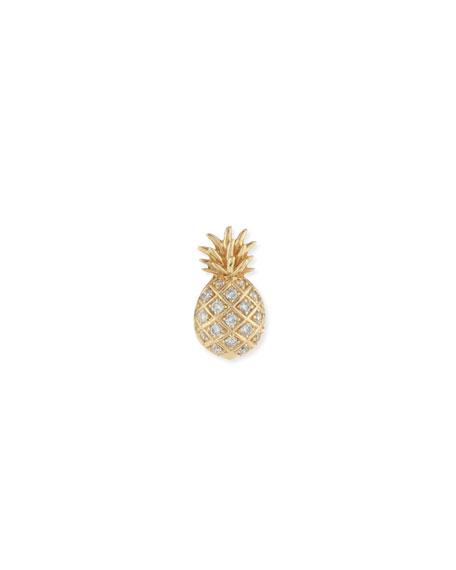 Pave Diamond Pineapple Single Stud Earring