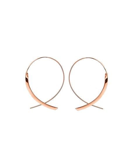 Small 14K Curved Crossover Hoop Earrings