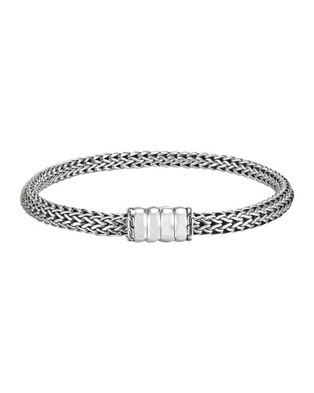 Bedeg Silver Chain Bracelet, Medium