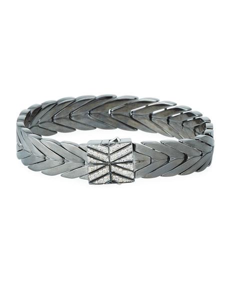 John Hardy Modern Chain Medium Bracelet with Diamond Pave Clasp