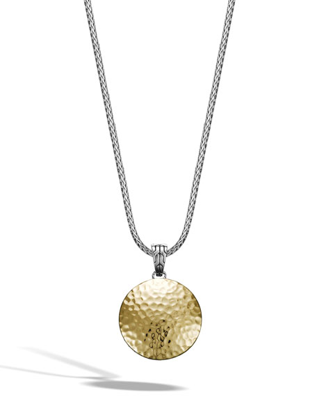 Dot Medium Hammered 18K Gold & Silver Enhancer