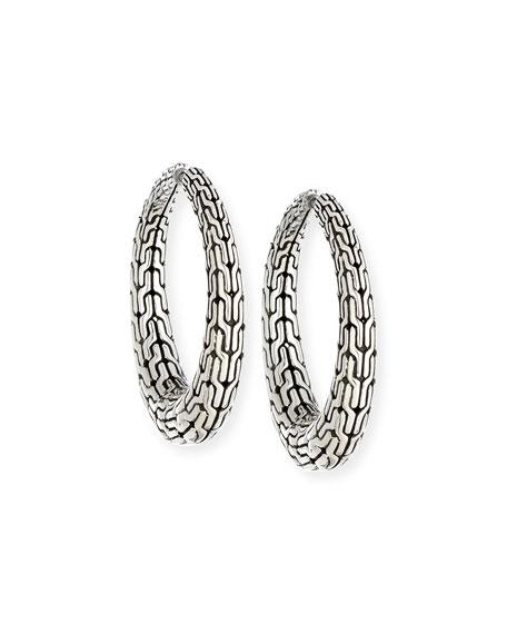 John Hardy Classic Chain Hinged Hoop Earrings
