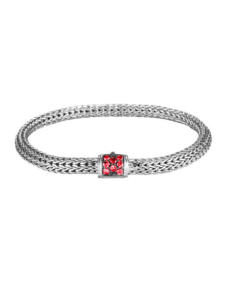 John Hardy Classic Chain Extra Small Red Sapphire
