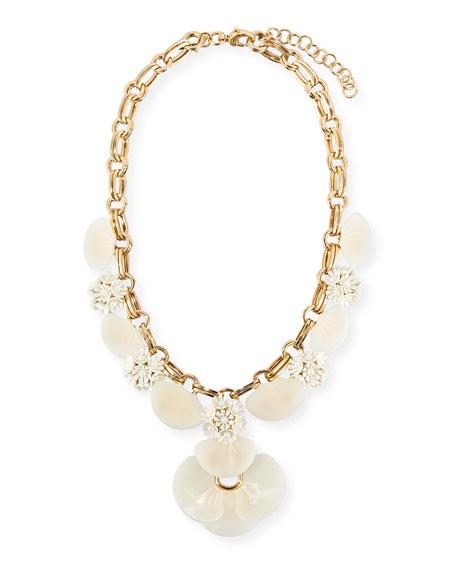 Lele Sadoughi Island Shell Petal Necklace