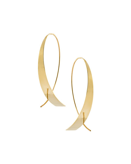 Lana Jewelry Bond Large Narrow Glam Thread-Through Hoop Earrings