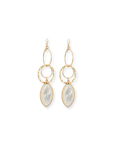Mother-of-Pearl Dangle Drop Earrings