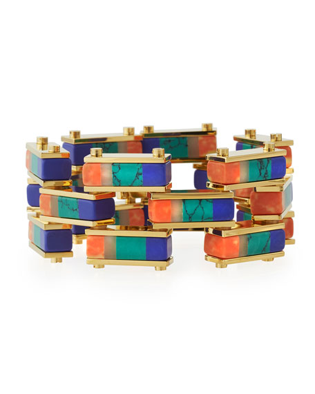 Lele Sadoughi Garden Fence Staggered Stripe Bracelet