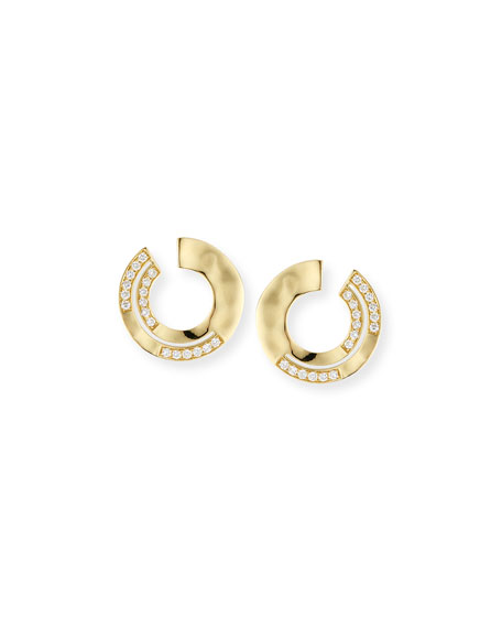 Ippolita 18K Senso??? Staggered Diamond Small Earrings