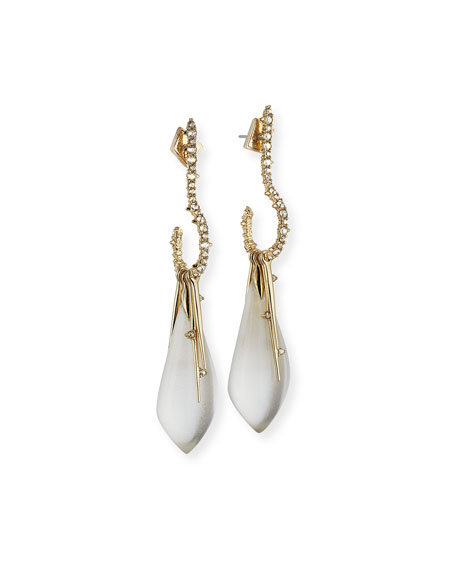 Alexis Bittar Lucite Question Mark Drop Earrings