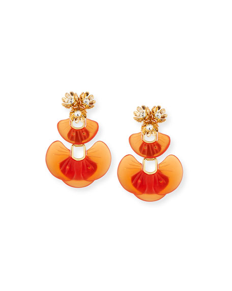 Island Crystal Drop Earrings, Amber