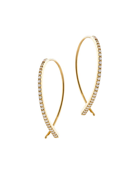 Flawless Vol 6 Upside Down Diamond Hoop Earrings