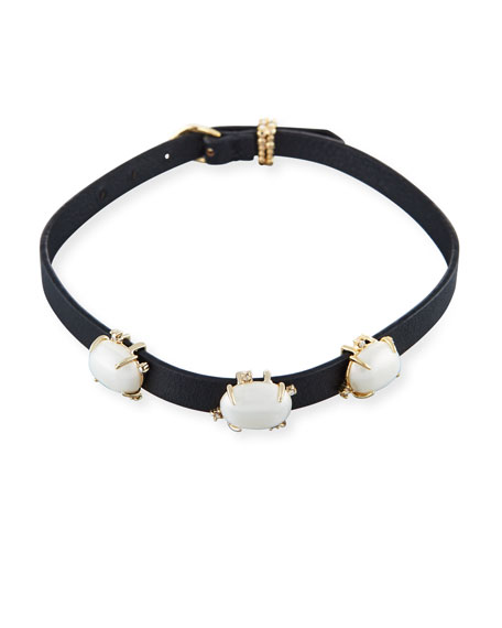 Alexis Bittar Multi-Station Leather Bracelet