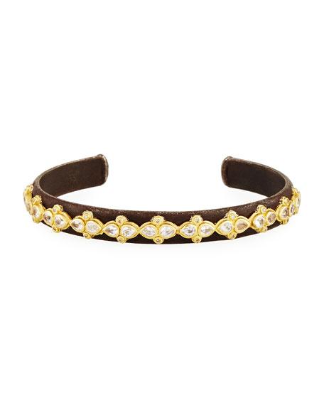 Armenta Old World Midnight Lacy Cuff Bracelet with Diamonds & Sapphires