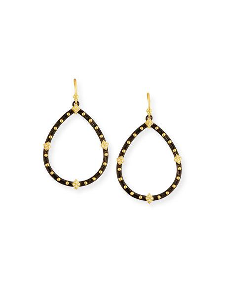 Old World Open Drop Earrings with Diamonds