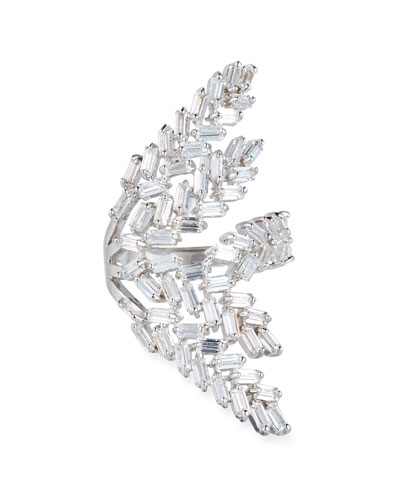 Monarch Deco Fern Crystal Ring